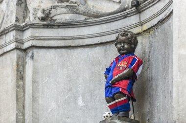 Manneken Pis in Brussels, Belgium.