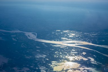Parana river delta in Argentina.