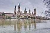 Photo Our Lady of the Pillar Basilica at Zaragoza, Spain