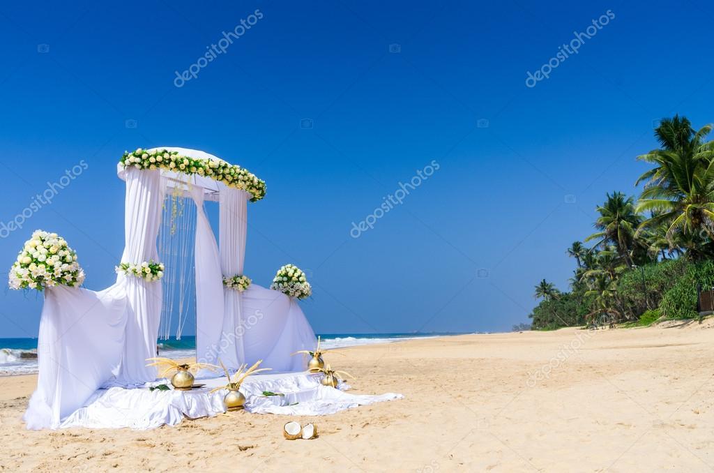 Wedding setup at tropical beach