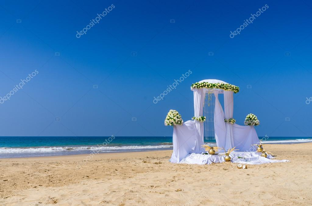 Wedding setup at tropical beach