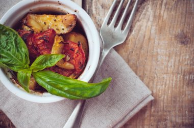 Vegan food: roasted vegetables