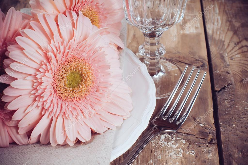 Vintage dining table setting