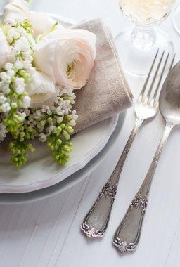 Wedding elegant dining table setting