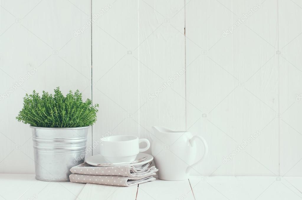 Land keuken decoratie u stockfoto manera