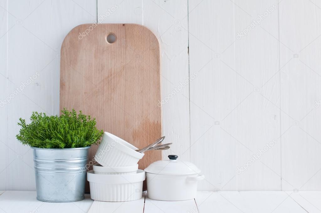 decoración de la cocina país — Foto de stock © manera #44701745