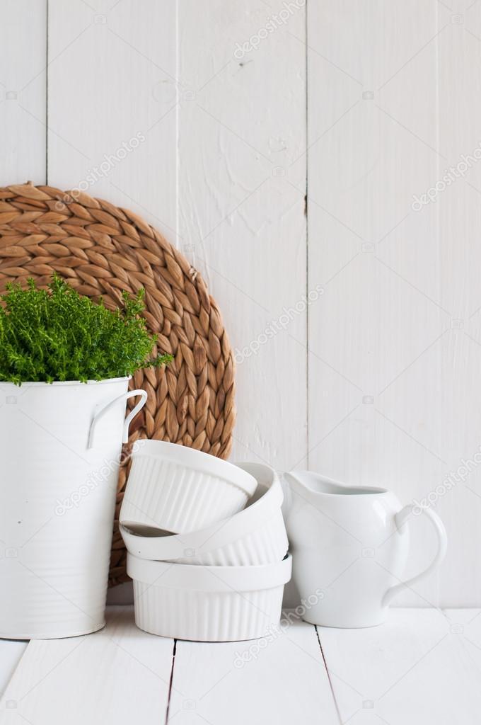 decoración de la cocina país — Foto de stock © manera #44701843