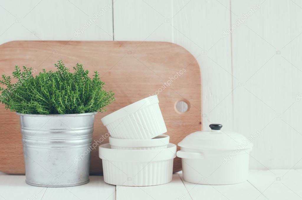 decoración de la cocina país — Foto de stock © manera #44703707