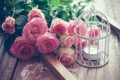 Fotografie Vintage-Dekor mit Rosen