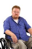 smutný muž vozík