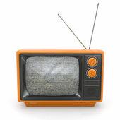 Vintage tv képernyő zaj. 3D