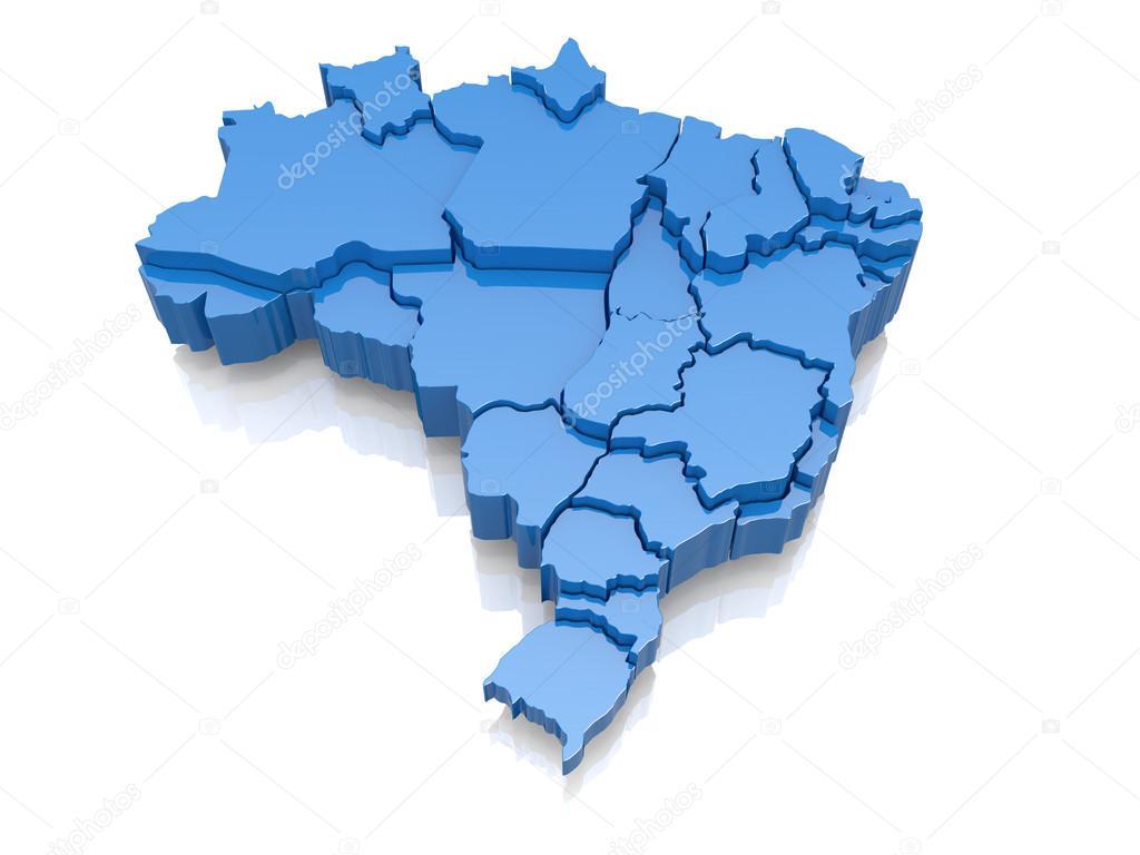 Mapa Brasil 3d Fotografias Mapa Brasil 3d Imagens Royalty Free