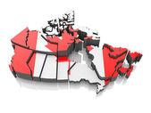 A nemzeti zászló színei Kanada Térkép