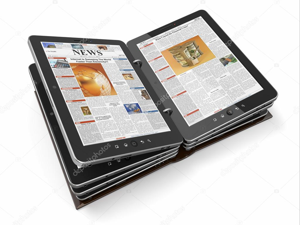 Newspaper or magazine from tablet pc