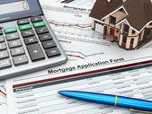 Fotografie formulář žádosti Hypoteční kalkulačka a dům