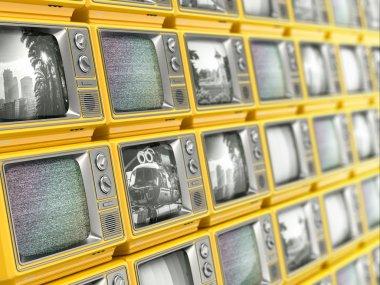 Wall from retro TV