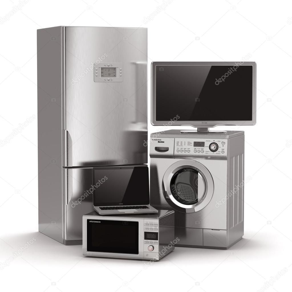 TV A CONFRONTO - Pagina 5 Depositphotos_28098285-stock-photo-home-appliances-tv-refrigerator-microwave