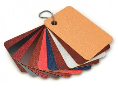 Color palette samples of leather.