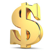 Zlatý znak dolaru měny