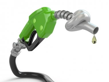 Knotted gas pump nozzle