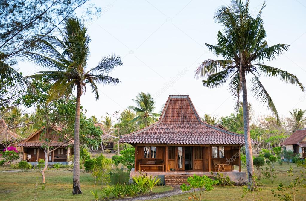 casas de madera en clima tropical — Foto de stock © Iryna_Rasko ...