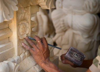 Stone carving at process