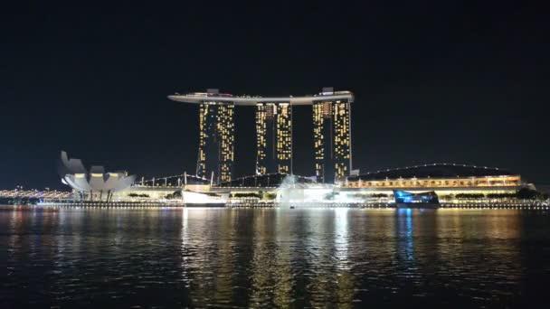 Laser show at the Marina Bay waterfront