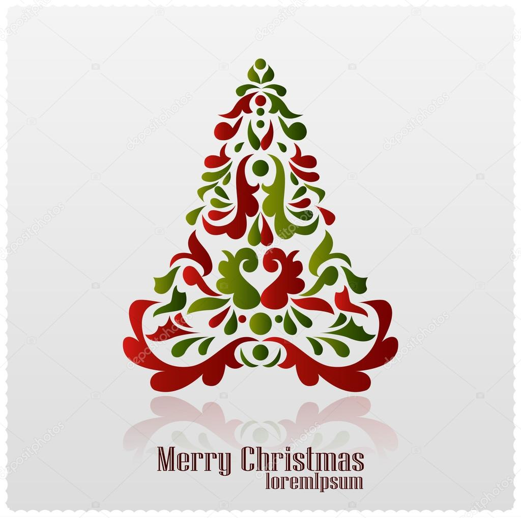 Abstract Christmas Tree. Christmas Card. Vector U2014 Vector By Hyv123