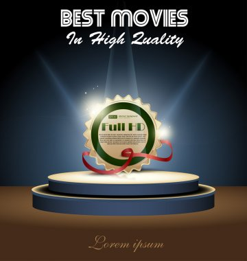 Stage awards or presentations vector