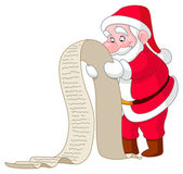 Santa se seznamem