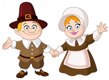 cartoon pilgrim man holding a rifle clipart. Commercial use GIF, JPG, EPS,  SVG clipart # 145662   Graphics Factory