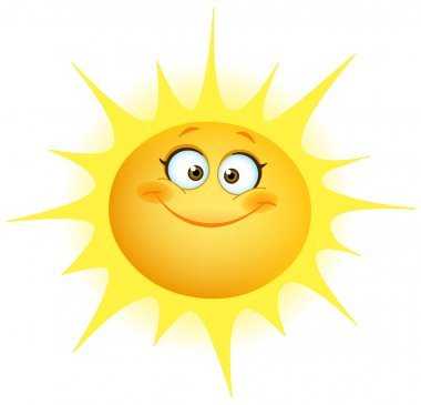Cute smiling sun stock vector