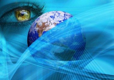 earth, eye in space