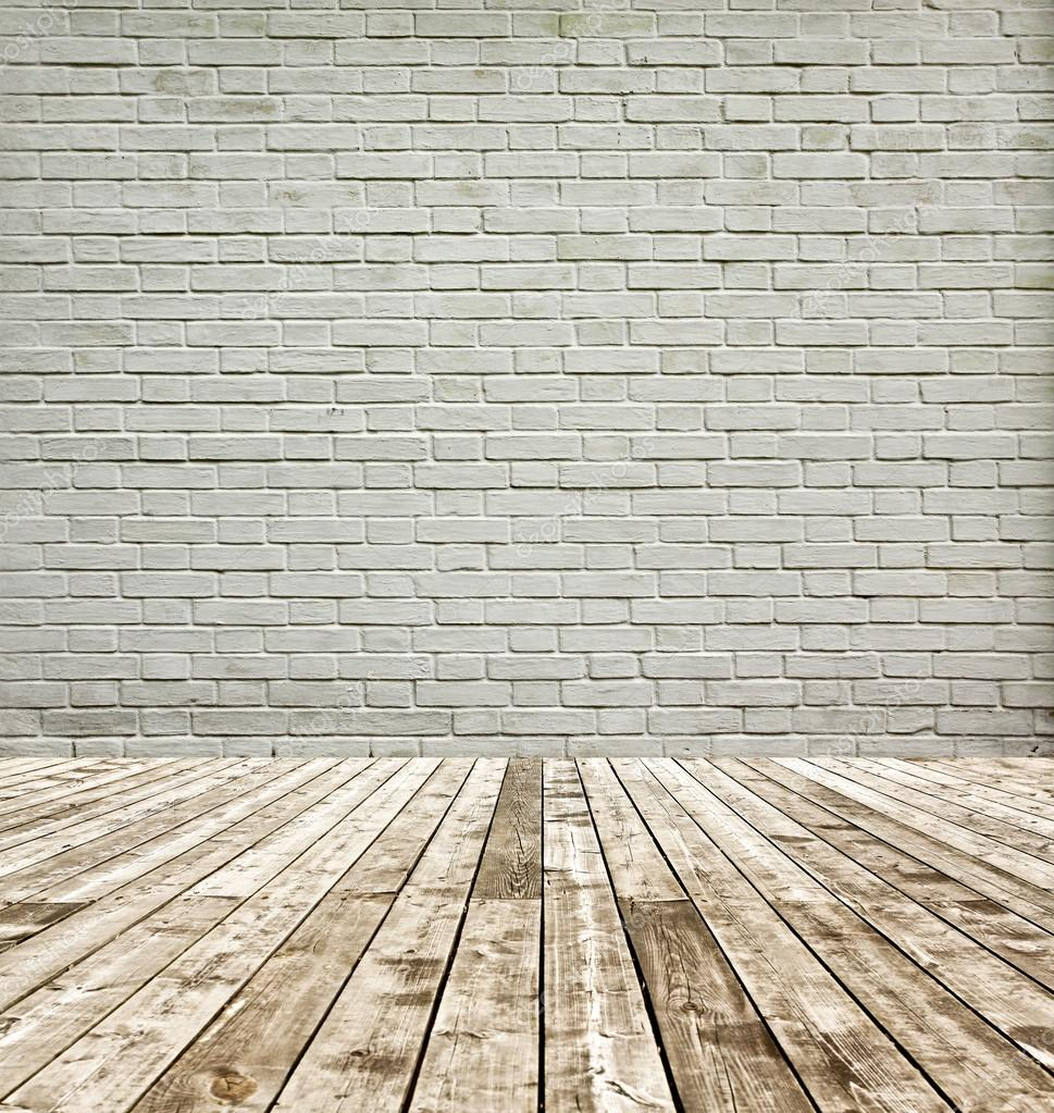 Background of aged grungy textured white brick and stone - Tableau sur mur blanc ...