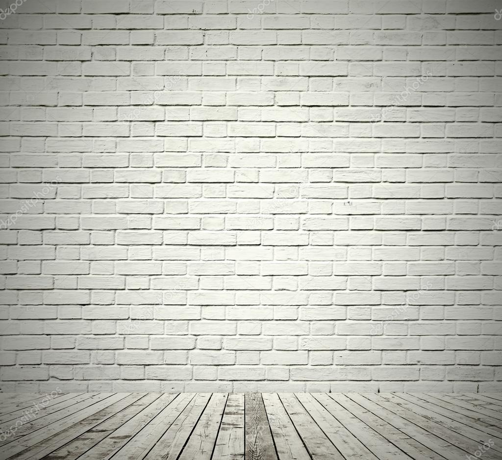 Background Of Aged Grungy Textured White Brick And Red