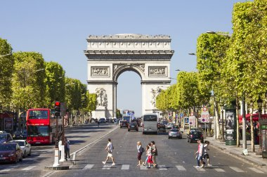 Champs-Elysees and the Arc de Triomphe, Paris, France