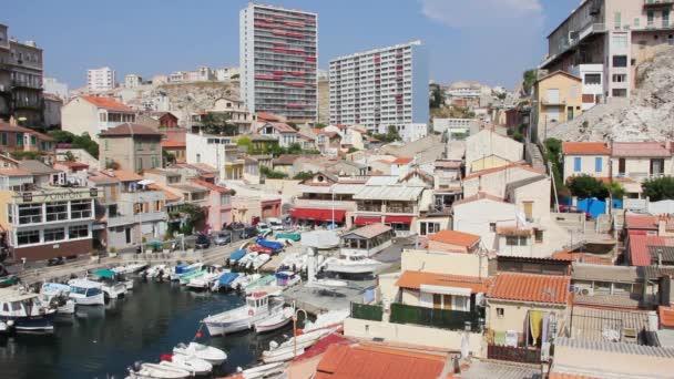 pohled vallon des auffes, Marseille, jižně od Francie