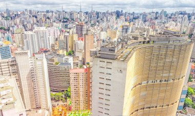 View of Sao Paulo and the famous Copan building. Designed by Osc