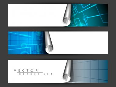 Website header or banner set. EPS 10.