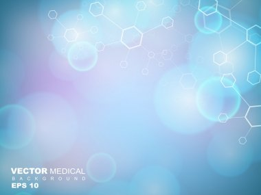 Abstract molecules medical background. EPS 10. stock vector
