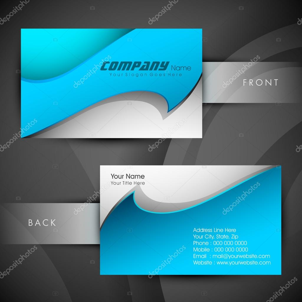 Abstract professional and designer business card template or vis ...