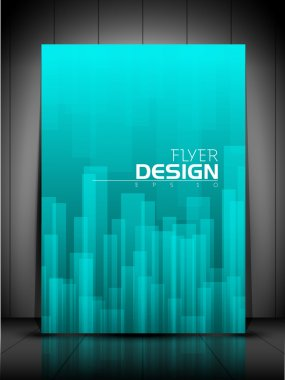 Professional business flyer template, brochure or cover design o