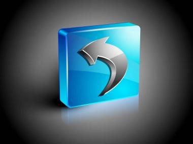 Glossy 3D web 2.0 left arrow symbol icon set. EPS 10.