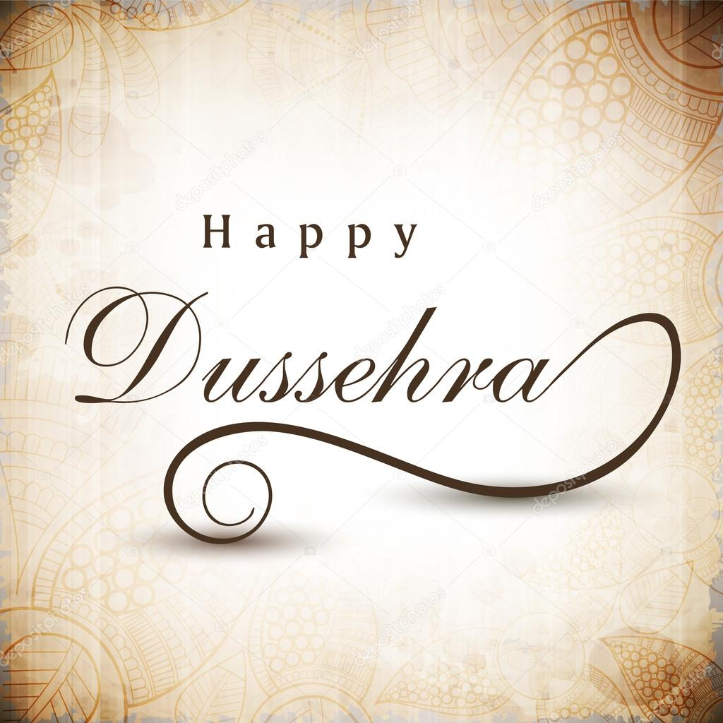 Greeting Card For Dussehra Celebration In India Eps 10 Stock
