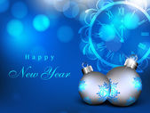 Fotografie šťastný nový rok přání. EPS 10