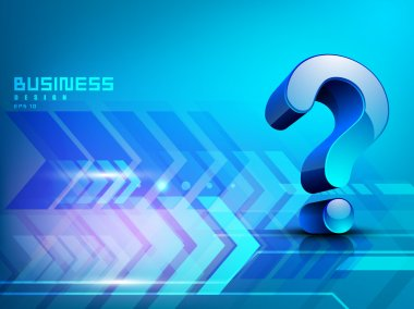 Business concept with 3D question mark symbol. EPS 10.