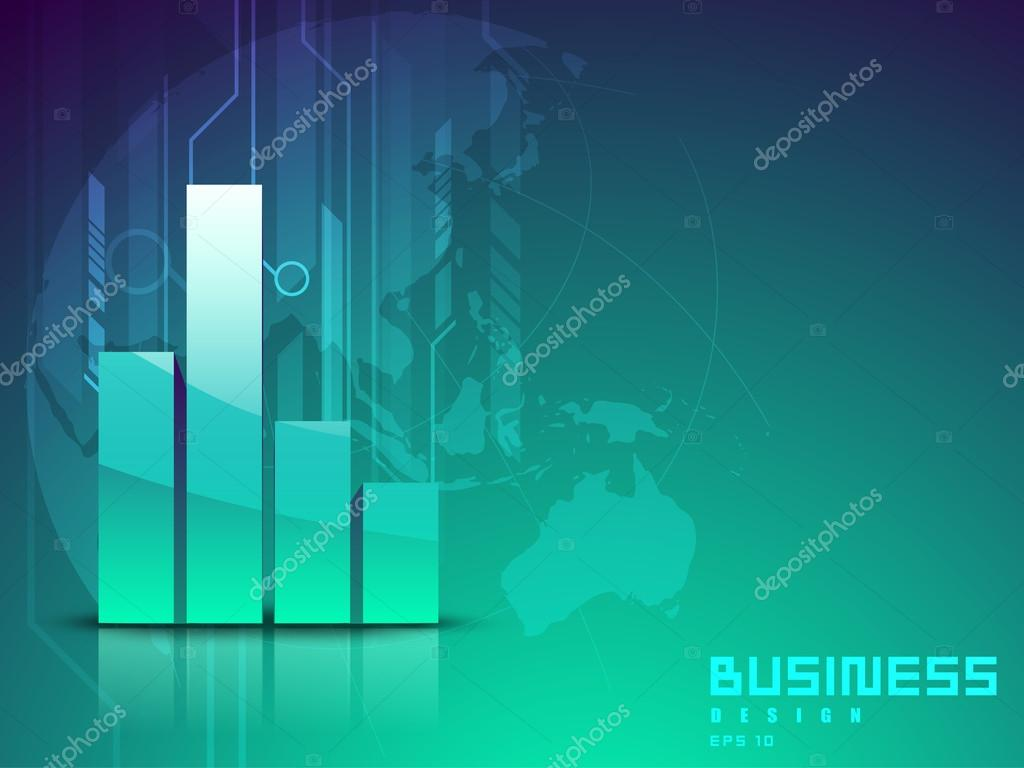 Abstract 3D Statistics Background Business Concept EPS 10 Vector By Alliesinteract
