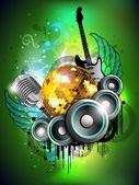 abstrakte musikalische Partei Hintergrund. EPS 10