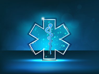 Abstract medical background with caduceus medical symbol. EPS 10