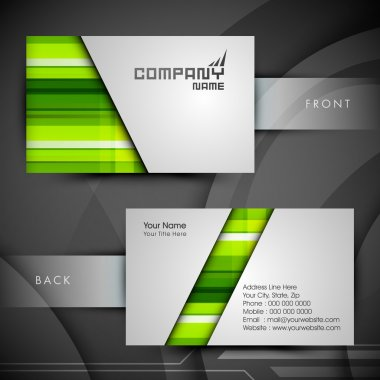 Professional and designer business card set or visiting card set. EPS 10. clip art vector